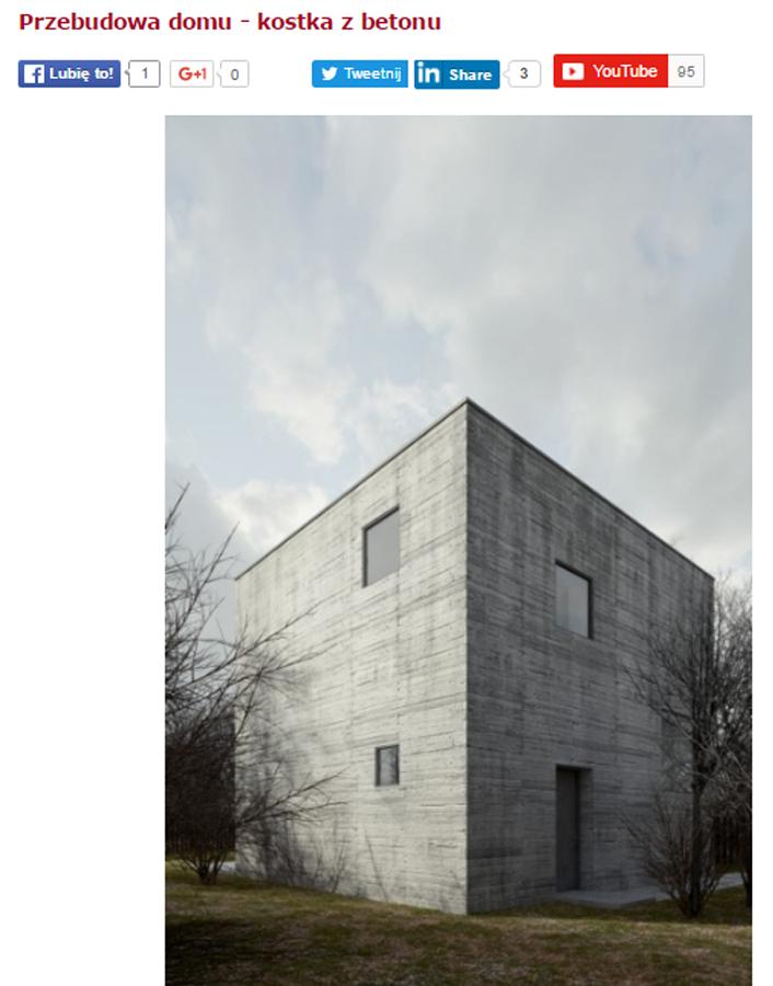 sztuka architektury kostka